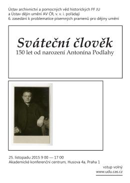 150 let od narození Antonína Podlahy