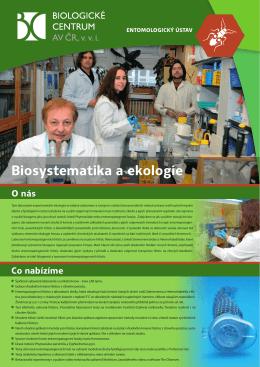 Biosystematika a ekologie