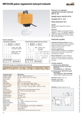 NRY24-SR pohon regulačních kulových kohoutů - +