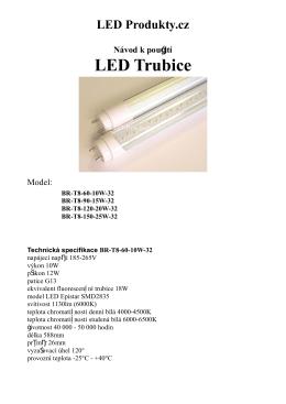 Návod pro LED Trubice