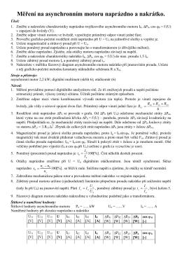 Měření na unipolárním tranzistoru