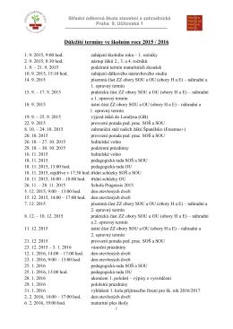 Harmonogram školního roku 2011/2012