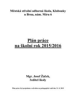 Plán práce 2015_16
