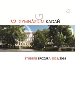 STUDIJNÍ BROŽURA 2015/2016