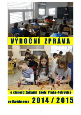 Výroční zpráva 2014/2015 - ZŠ Praha