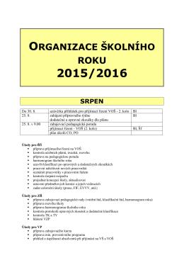 Srpen - Obchodní akademie Příbram