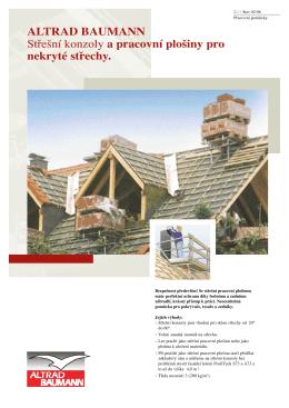 ALTRAD BAUMANN Střešní konzoly a pracovní plošiny pro nekryté