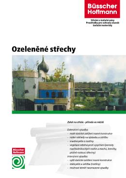 Ozeleněné střechy - Büsscher & Hoffmann