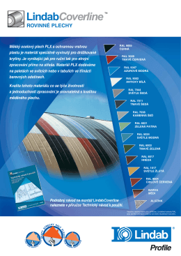 Katalog rovných plechů Lindab COVERline.