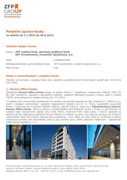 Pololetní zpráva fondu k 30.06.2015