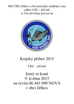 Krajský přebor 2015 který se koná 9. května 2015 na revíru 06 441