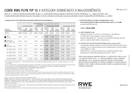 cenÍK RWe plyn tip 12 v kategorii Domácnost a malooDběratel