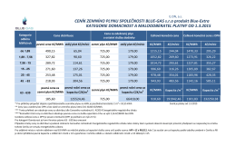 ceník plyn E.ON Blue-Extra 2015 - Blue-gas