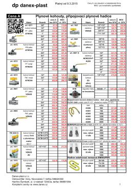 Materiály a armatury pro plyn - DANEX