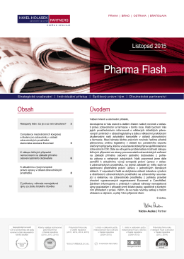 11-2015 Pharma Flash - Havel, Holásek & Partners