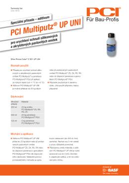 Speciální přísada – aditivum PCI Multiputz ® UP UNI