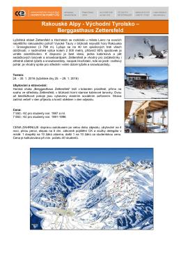 Rakouské Alpy - Východní Tyrolsko – Berggasthaus Zettersfeld