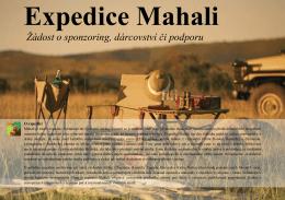 Expedice Mahali Žádost o sponzoring, dárcovství či podporu
