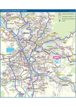 LIBEREC Liniennetzplan Stadtverkehr Liberec
