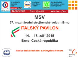 Prezentace Area Italia-MSV 2015 - Camera di Commercio e dell