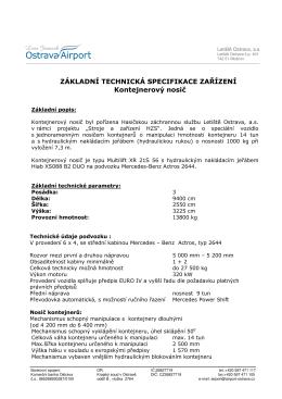 zákl.technická spec.zařízení