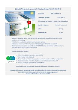 Základní Photovoltaic system 2,88 kW od společnosti