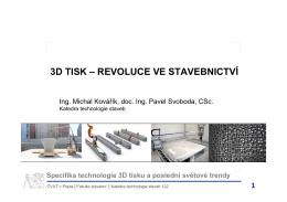 3D tisk - revoluce ve stavebnictví