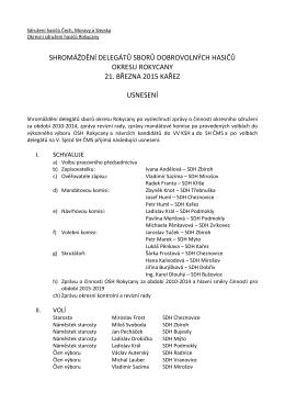 Usnesení ze shromáždění delegátů sborů