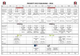 PROJEKTY DCD PUBLISHING – 2016
