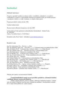 Rostlinolékař - Česká společnost rostlinolékařská