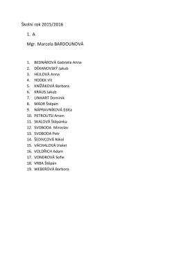 Seznamy prvních tříd
