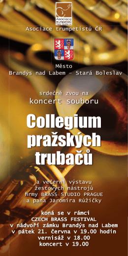 Příloha: Pozvanka Czech Brass Festival