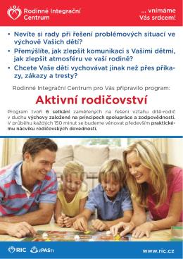Informační leták - Aktivní rodičovství