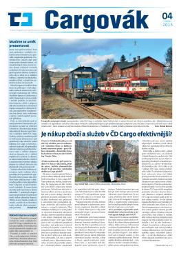 Je nákup zboží a služeb v ČD Cargo efektivnější?
