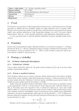 1 Úvod 2 Pom·cky 3 Postup a výsledky