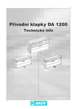 Přívodní klapky DA 1200 - SKOV-a-S