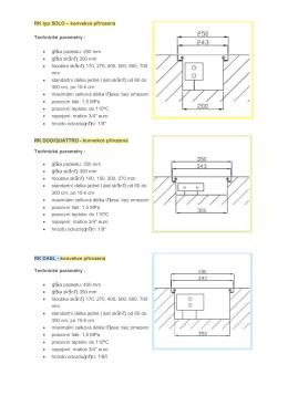 RK typ SOLO – konvekce přirozená Technické parametry
