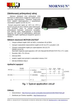 Mornsun představil nový průmyslový zdroj MCP100 se