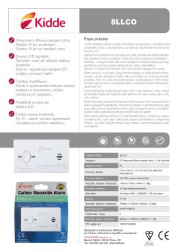 Popis produktu Integrovaný lithiový napájecí zdroj. Záruka 10 let na