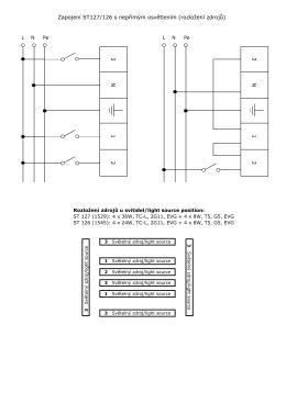 3 2 1 N 3 2 Zapojení ST127/126 s nepřímým
