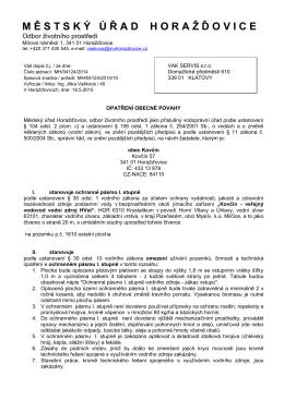 Opatření obecné povahy Kovčín