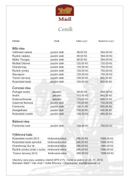 Ceník v PDF