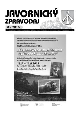 jz 08 15 - Město Javorník