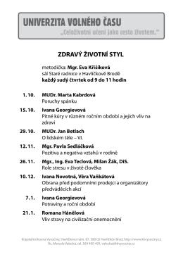 Zdravý životní styl - Krajská knihovna Vysočiny