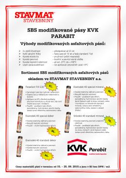 SBS modifikované pásy KVK PARABIT - plakát