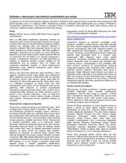 Dohoda o rámcových obchodních podmínkách pro stroje