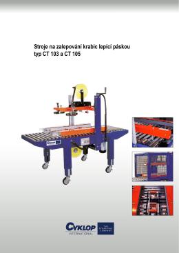 Schachtelverschließmaschinen Compact Taper Stroje