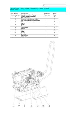 Typ stroje / Model: VD 301/11, VD 351/14, VD 401/16, VD 451/18