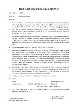 Zápis 04.03.2015 - VOS UJEP Ústí nad Labem