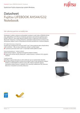 Datasheet Fujitsu LIFEBOOK AH544/G32 Notebook
